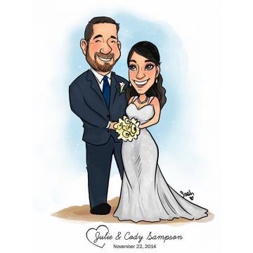 Wedding Couple Caricature
