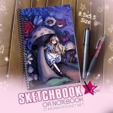 Alice Sketchbook or Notebook Journal