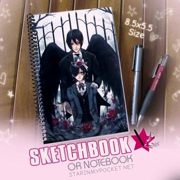 Black Butler Sketchbook or Notebook Journal