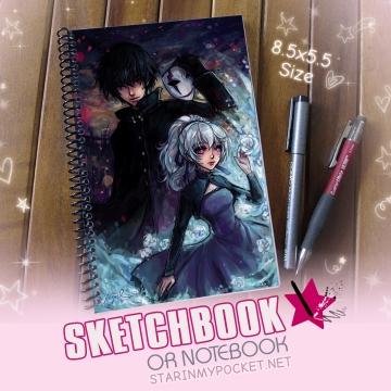 Darker Than Black Sketchbook or Notebook Journal