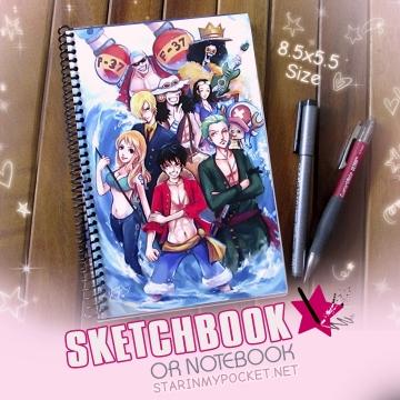 One Piece Sketchbook or Notebook Journal