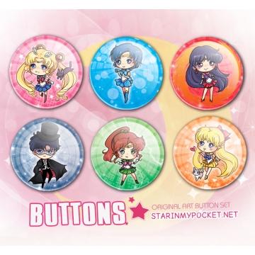 Sailor Moon Button Inners Set