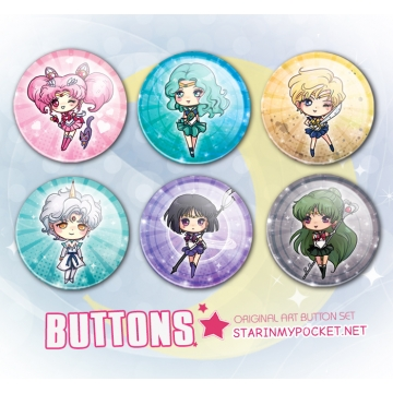 Clone of Sailor Moon Buttons Outers Set