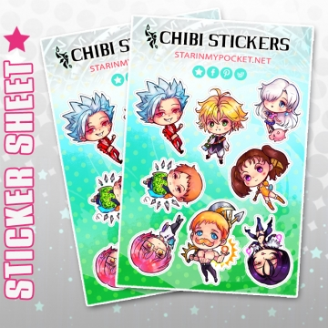 7 Deadly Sins Anime Stickers