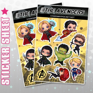 Avengers Anme Stickers