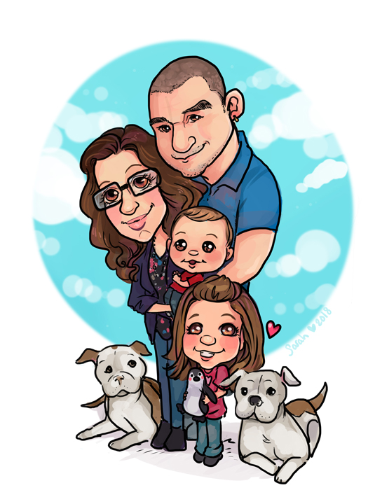 Caricature Family Portrait